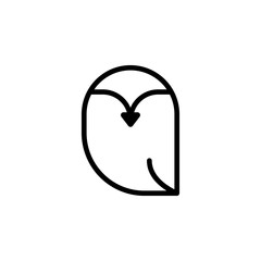 owl icon. Element of autumn icon for mobile concept and web apps. Thin line owl icon can be used for web and mobile