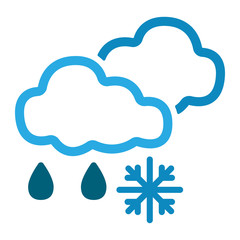 Wetter Icon - Schneeregen