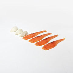 Creative Layout Concept with Sour Salmon and Cream Cheese