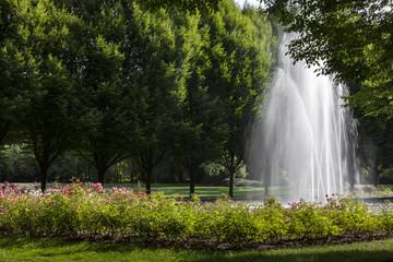 Wasserfontäne im Stadtgarten Bottrop