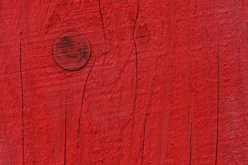 close up of painted in red wooden board