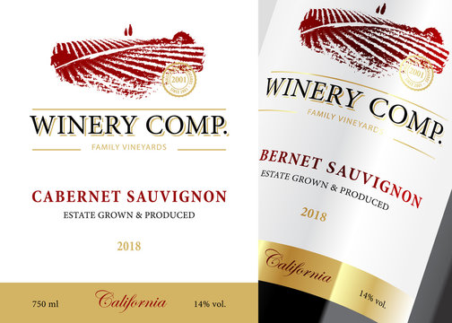 Wine label classic template