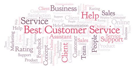 Best Customer Service word cloud.