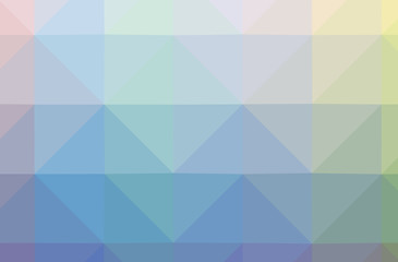 Illustration of blue abstract polygonal nice multicolor background.