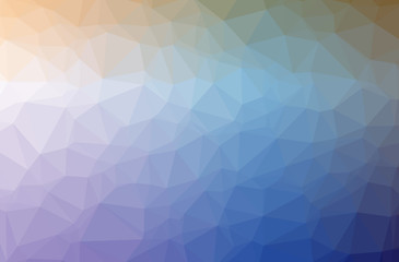Illustration of blue low poly elegant multicolor background.