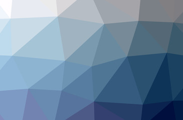 Illustration of blue abstract polygonal modern multicolor background.