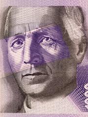 Andrej Hlinka portrait from Slovak money