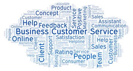 Business Customer Service word cloud.