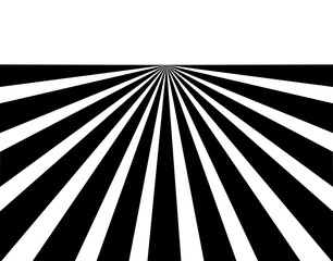Black and white converging lines