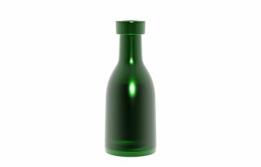 Grüne Glasflasche