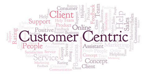 Customer Centric word cloud.