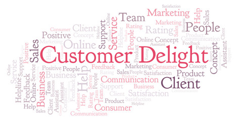 Customer Delight word cloud.