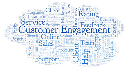 Customer Engagement word cloud.