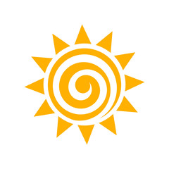 Sun swirl icon isolated