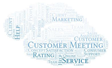 Customer Meeting word cloud.