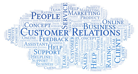 Customer Relations word cloud.