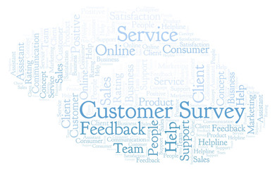 Customer Survey word cloud.