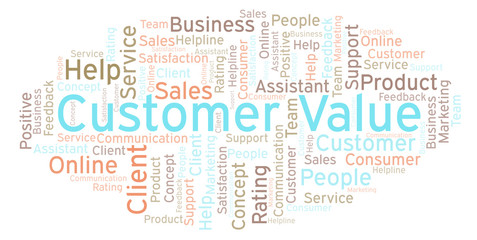 Customer Value word cloud.