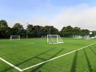 Floodlit all-weather 3G artificial grass football pitch, Meriden Community Centre, Watford