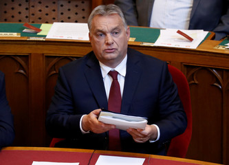 Hungarian PM Orban attends the opening session of parliament in Budapest
