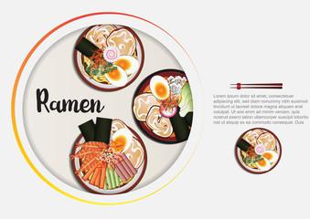 Japanese food ,Ramen  menu  with background