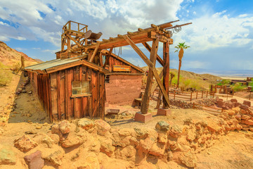Calico Ghost Town with abandoned gold and silver mines. Calico is a ghost town, and former Mining town in Calico Mountains of Mojave Desert region of Southern California, United States. Wall mural