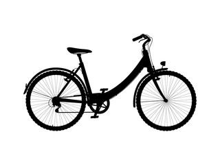 Vector silhouette of city bike