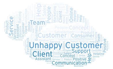 Unhappy Customer word cloud.
