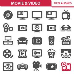 Movie & Video Icons