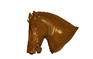 Brauner Pferdekopf