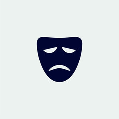 mask icon, vector illustration. flat icon