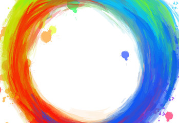 hand-drawn colorful circle strokes