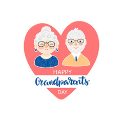 Grandparents day greeting background
