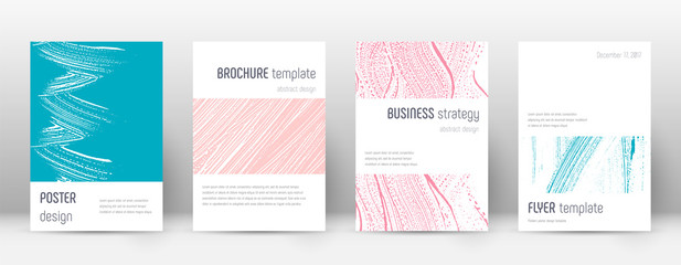 Cover page design template. Minimalistic brochure layout. Classy trendy abstract cover page. Pink an