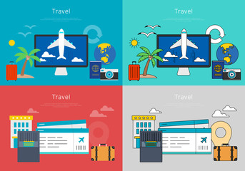 Concept of online airline booking.