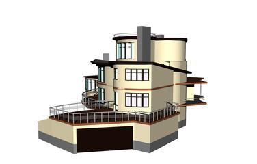 Großer Wohnkomplex