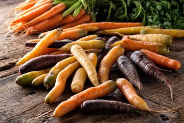 Raw Fresh Organic Heirloom Carrots
