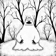 monstruo en el bosque