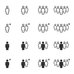 People Icons Work Group Team , Persons Crowd Symbol Vector Illustration