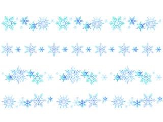 青い雪の結晶のフレーム