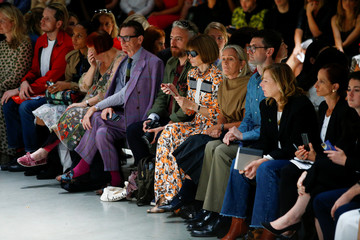 Fashion editor Anna Wintour attends the Christopher Kane catwalk show at London Fashion Week Women's in London