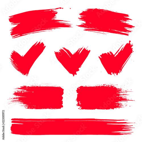 vector red paint ink vector brush splash brush stroke frame or