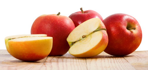 image of ripe apples close-up