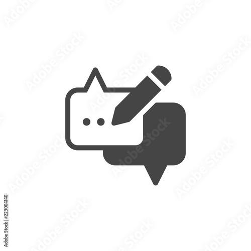 Speech bubble and pencil icon  Dialog cloud graphic web