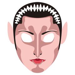 Isolated halloween vampire mask. Vector illustration design