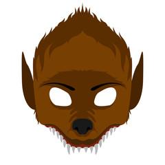 Isolated halloween werewolf mask. Vector illustration design