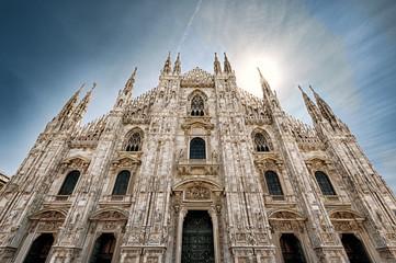 Fototapete - Milan Cathedral or Duomo di Milano in summer, Milan, Italy