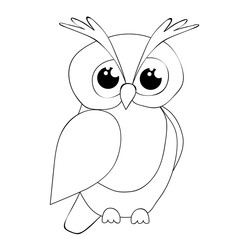 owl character, book coloring