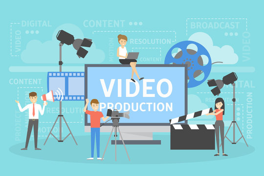 Video production concept. Making visual content for social media