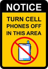 turn cell phones off in this area